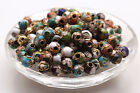 Внешний вид - Wholesale Cloisonne Enamel Round Ball spacer loose Beads Jewelry Making
