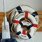 Welcome Aboard Nautical Life Lifebuoy Ring Boat Wall Hanging Home Decoration