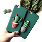 iPhone 7&7 Plus Cute 3D Potting Cat and Cactus Prickly Pear Hard Shell Case Skin
