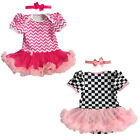 Girls Party Bathing Ritual Cotton Pajamas Leisure Check Short Sleeve