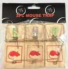 Wooden Mouse Trap Snap Springs Rodent Control 3-30 trap packs