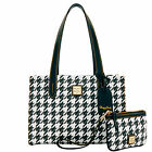 Dooney & Bourke Houndstooth Sm Shopper & Med Wristlet