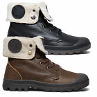 Palladium Womens Baggy Leather FS Pilot Shoe Faux Wool Lined Classic Ankle Boot