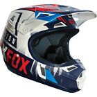 Fox Racing MX Off-Road V1 Vicious Helmet Blue/White Youth