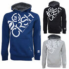 Crosshatch Mens Flashpoint Designer Faux Fur Lined Hood Casual Pullover Hoodie