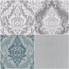 casual chic textile structure Damask wallpaper
