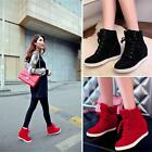 Womens High Top Lace Up Athletic Sneakers Shoes Lady Wedge Ankle Casual Platform