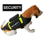 SECURITY BACKPACK SERVICE DOG Vest Harness with Side Bags + Removable Patches