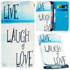 HOT Vague Print Card Leather Wallet Pouch Bag Case Cover Fr Samsung Galaxy Phone