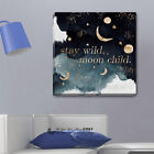 Stay Wild Quote Stretched Canvas Print Framed Wall Art Kids Room Decor Painting