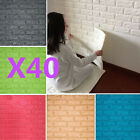 40 rolls 3D effect Stone Brick Wall Textured Vinyl Wallpaper Self-adhesive safe