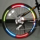 Bike Bicycle Cycling Wheel Rim Reflective Stickers Luminous Tape Decal Soft