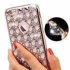 bumper or case - Bling Glitter Shockproof Rubber Diamond or clear Soft Case Cover for iPhone 7