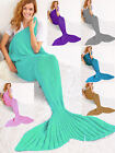 New Mermaid Tail Blanket Crocheted Cocoon Sofa Beach Quilt Knit Lapghan Blanket