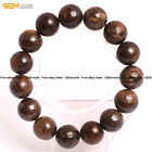 Natural Bronzite Stone Beads Energy Healing Beaded Stretch Bracelet 7""