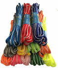 SPORTS RUNNING OVAL SHOE LACES SHOELACES - WHITE EDGING - FREE UK P&P!