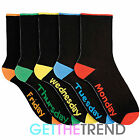 Mens Sock Everyday Novelty Black Heel Toe Plain Footwear Cotton Casual Multipack
