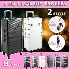 7 in 1 Portable Cosmetics Makeup Case Beauty Organizer Carry Bag Luggage Trolley