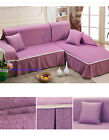 Thick Solid Color 100% Polyester Couch Sofa Cover Towel Protector 1 2 3 4 seater