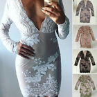 2016 Sexy Women Party Club V Neck Sequins Luxury  Bodycon Christmas Mini Dress