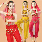 Children Belly Dance Costume Set Suit Indian Dancer Kids Girls Bollywood Perform