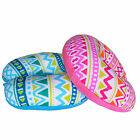 Micro Beads Color Print U Shaped Travel Pillow Office Home Neck Support Cushion