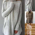 Women Long Sleeve Pullover Sweater Winter Oversize Knit Sweater Jumper Shirt Top