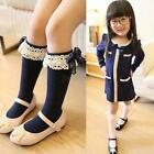 Lovely Kids Baby Toddler Girl Princess Soft Cotton Lace Knee Length Tight Socks