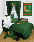 Miami Hurricanes Comforter Sham & Bedskirt Twin Full Queen Size LR