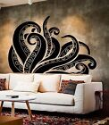 Vinyl Wall Decal Tentacles Octopus Kraken Ocean Monster Stic