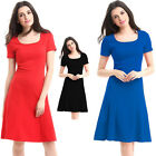 women elegant office ladies work wear Casual A-Line Cocktail party Skater dress