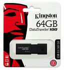 16GB 32GB 64GB - Kingston Data Traveler DT100 USB 3.0 Memory Flash Drive Lot