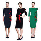 women's elegant office work wear pencil Cocktail Casual dress clothes clothing