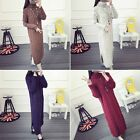 New Women's Maxi Turtleneck Knit Casual Sweater Dress Knitwear Jumper Cardigan