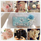Luxury Holder Wallet Flower Strap Flip Magnetic PU Leather Case Cover For Phones