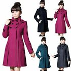 Fashion Women Winter Hooded Parka Warm Long Trench Coat Jacket Overcoat Outwear