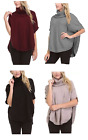 NEW Sisters Women's Cowl Neck Poncho Top- VARIETY