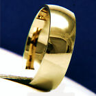 Brand New Gold Tone Unisex Engagement Wedding Bridal Band Ring