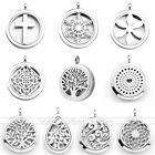 Fashion Aromatherapy Essential Oil Diffuser Locket pendant Stainless Steel 30mm