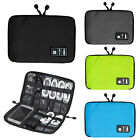 Canvas Organizer Bag for Hard Drive Earphone Cables USB Flash Drives Travel Case