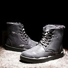 Fashion Men's Warm Suede Leather Snow BootFur Lined Ankle Sneakers Lace Up Shoes