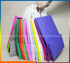 20pcs White Kraft Paper Gift Carry Shopping Retail Merchandise Bag With Handle M