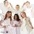 Boys Girls Angel Christmas School Play Nativity Fancy Dress Outfit Halo Costume