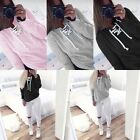 Fashion Women Long Sleeve Hoodie Sweatshirt Sweater Casual Jumper Coat Pullover