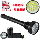 Vastfire 40000LM 24x XM-T6/12T6 LED Flashlight Torch Camping Light 5 Modes Lamp