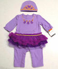 NEW Purple Princess CIRCO Jumpsuit and Hat 0/3 or 6/9 months