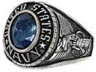 New Women's US Navy Rhodium Plated Ring Sizes 5-10