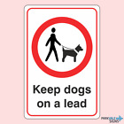 Keep Dogs On A Lead Prohibition Sign
