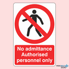 No Admittance Authorised Personnel Only Signs (Man)