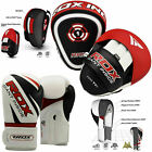 RDX Curved Focus Pads Hook and Jab Kick Boxing Gloves MMA Punching Muay Thai Red